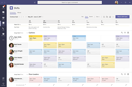 Get started in Shifts - Office 365