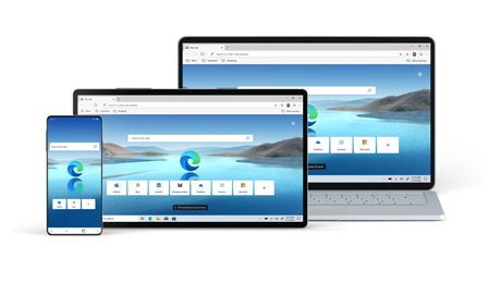 Microsoft Edge on phones, tablets, and laptops